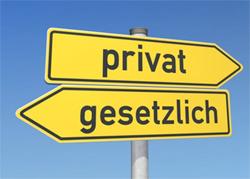 Private oder gestzliche Krankenversicherung